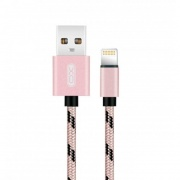 Зарядный кабель XO NB10 USB braid cable for USB & Apple 1m