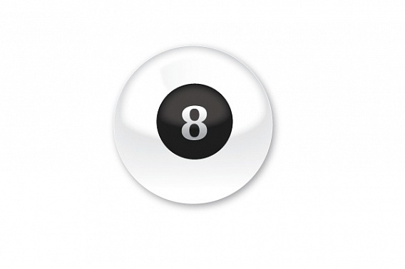 фотография Magic 8 ball белый